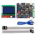 3D Kit De Impressora MKS Base V1.5 Placa Controladora Da Impressora 3D com mega 2560 r3 motherboard reprap ramps1.4 lcd + 12864 controlador