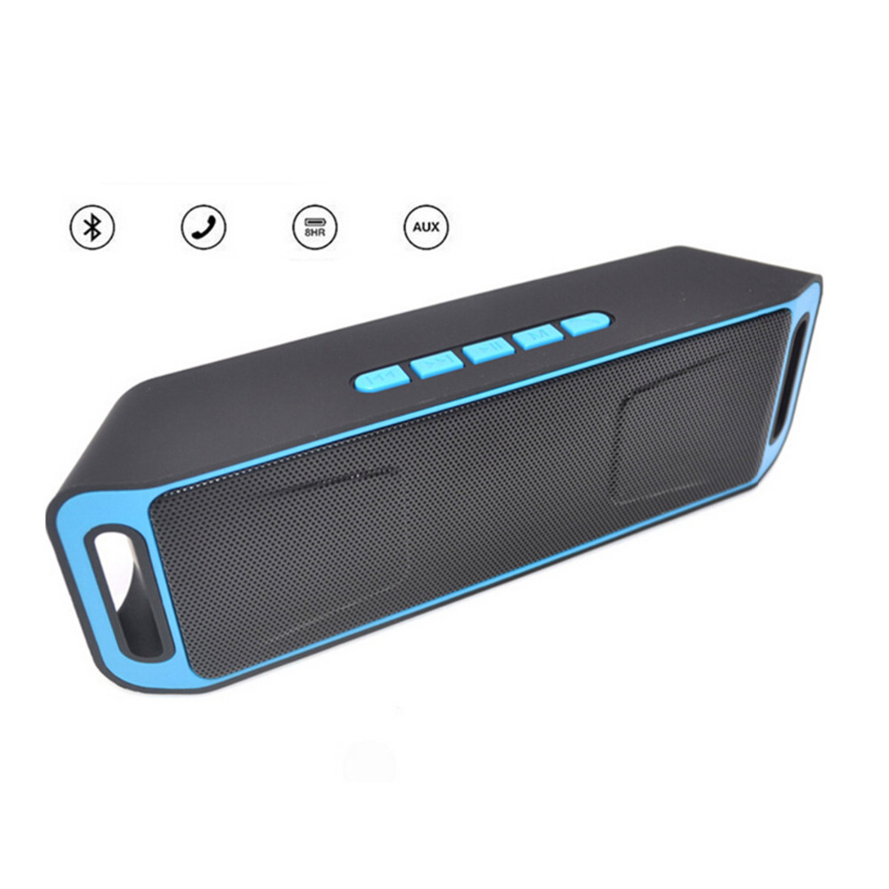 Portable Wireless USB FM Radio Boombox Stereo Bluetooth Speaker For IOS Android