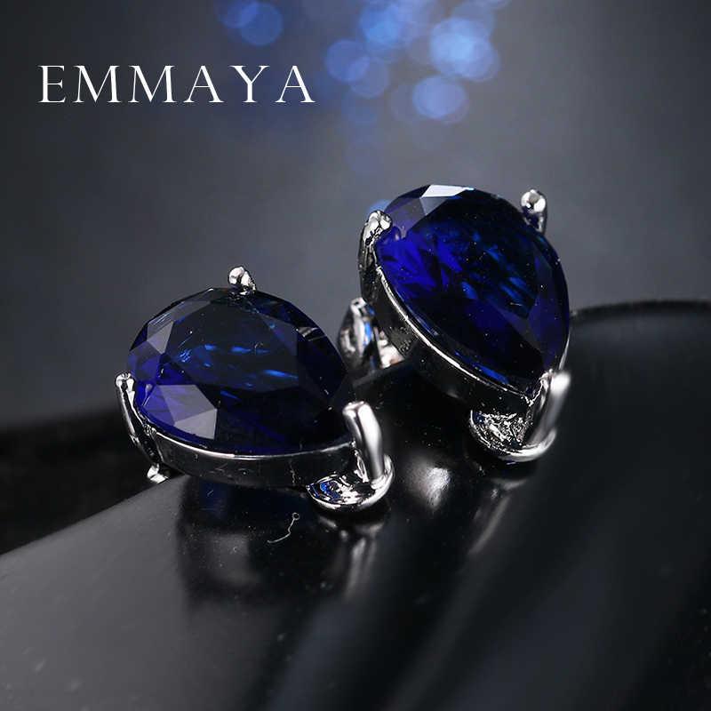 Женские серьги-клипсы с кристаллами Emmaya, уникальные сережки из белого золота высшего качества, Ювелирное Украшение
