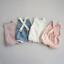 Модный Полосатый Комбинезон для маленьких девочек; комбинезоны; одежда в полоску; комбинезон; Sunsuit