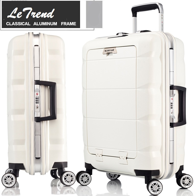Realistic 20/24inch Computer Pocket 100% Pp Rolling Luggage Aluminum Frame Waterproof Rolling Luggage Trolley Solid Travel Bag Boarding Luggage At All Costs