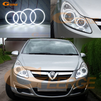 For Opel Corsa D 2006 2007 2008 2009 2010 2011 halogen headlight Excellent Ultra bright smd led Angel Eyes kit DRL