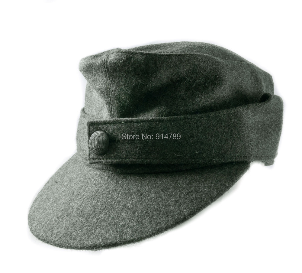 WWII GERMAN WH EM M44 PANZER WOOL FIELD CAP IN SIZES 35775