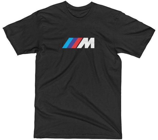 f23928dd9bd BMW M LOGO MOTORSPORT TWIN TURBO M2 M3 M4 M5 M6 SPORT PERFORMANCE T-SHIRT  TEE 3 Cartoon Hip Hop Shirt men t shirt