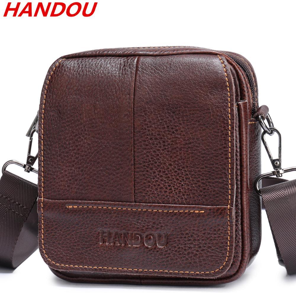 Valódi kiváló minőségű bőr Messenger táskák Férfi Utazás ... da2064fad8