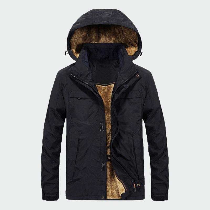 Men Winter Coats Fleece Warm Thick Jackets Men Outerwear Windproof Casual Fashion Coat With Hooded Mens   Parkas   Plus 4XL ML217