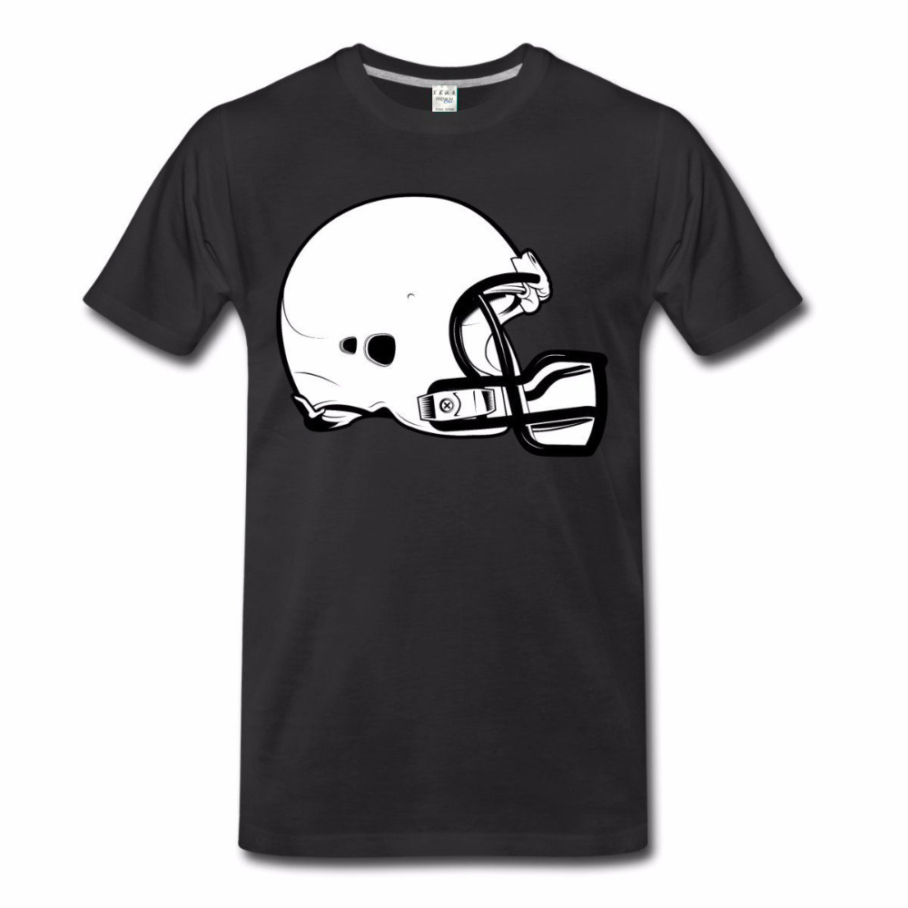 Hot Sell 2017 Fashion Men Printed T-Shirts Free Shipping Summer Fashion Footballer Helmet Sleeve Tops T Shirt Homme