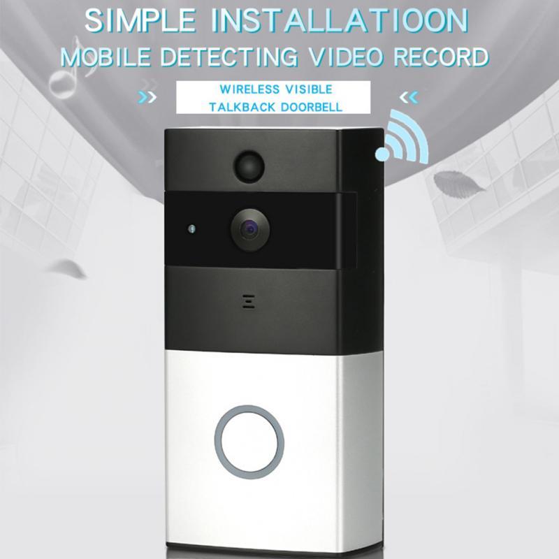 New Household WIFI Wireless Visual Intercom Doorbell Low Consumption Smart Doorbell Home Use Silver Gray