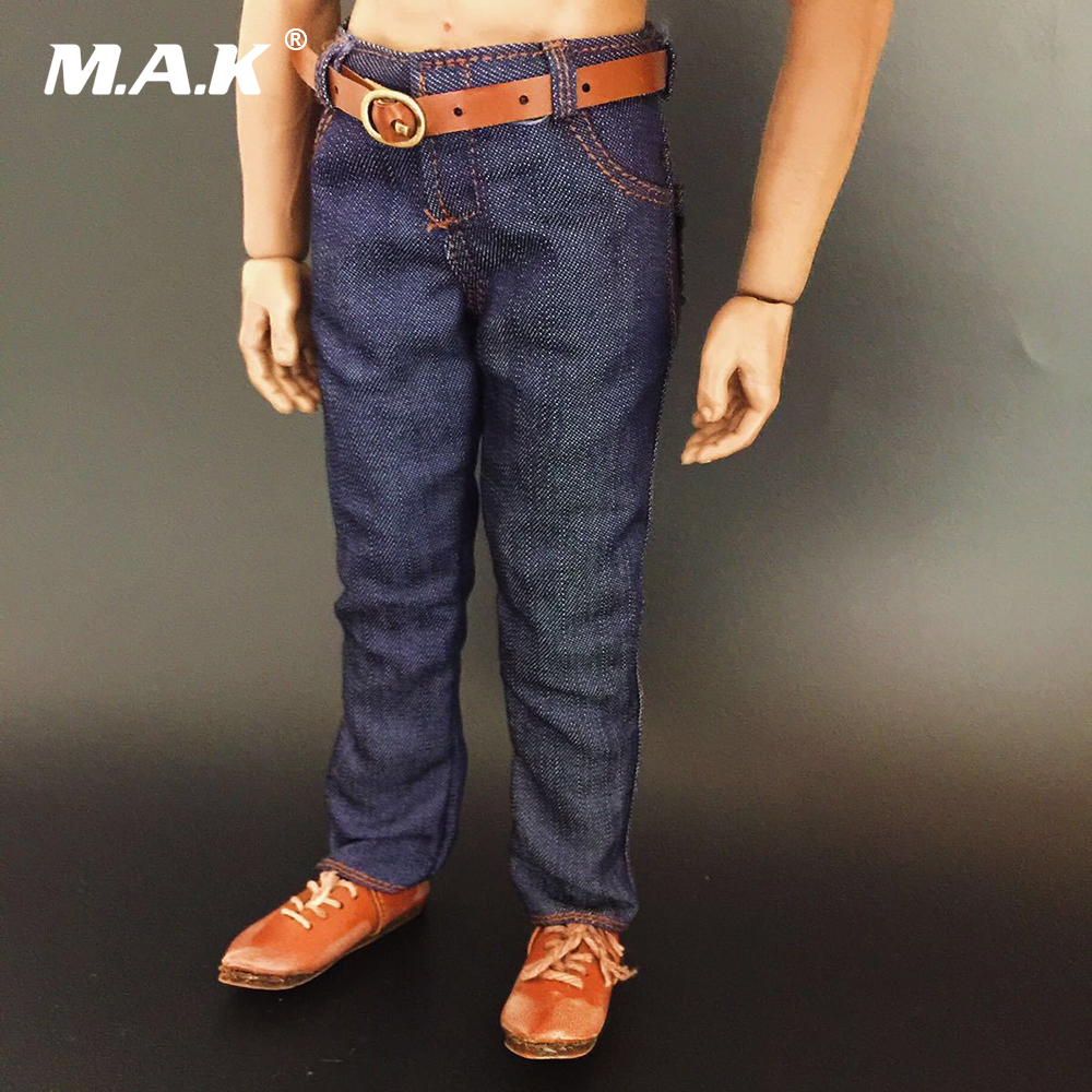 1//6 Men/'s Trendy Classic Jeans Pants Clothes Figure Toys For 12/'/' Muscular Body