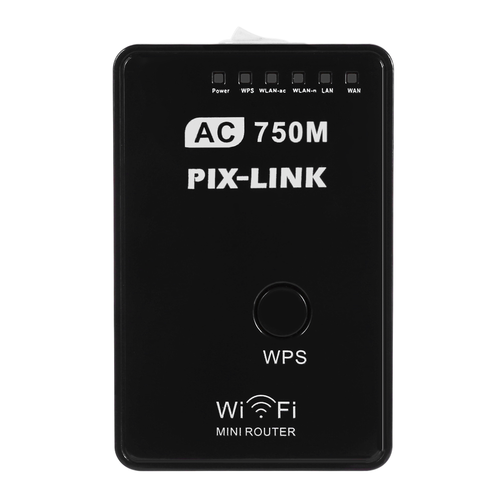 PIXLINK AC01 750Mbps Dual Band 2.4GHz / 5GHz AP WiFi Router Repeater Firewall Support LAN WAN Port Network Security