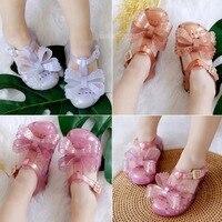 Mini Melissa 2019 Original Brands Girl Sandals 2019 New Girl Jelly Sandals Kids Sandals Children Beach Shoes Non slip Toddler