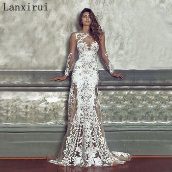 Elegant Long Bridesmaid Wedding Party Dress Sexy Embroidery Dress White Lace Female Clothing Women Brand Vestidos De Festa 110cm wide wedding dress lace embroidery diy women clothes materials clothing fabric accessories ivory white church happy hour