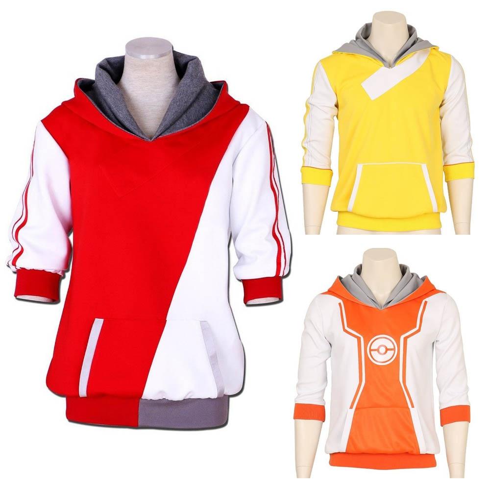 Pokemon Go Hoodie Trainer Hoodies Anime Cosplay Costume Hoody Sweatershirt For Men Women Plus Size