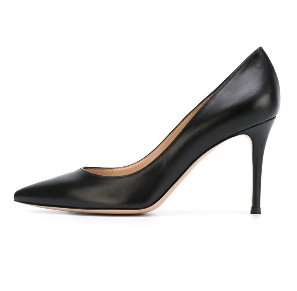 Amourplato font b Women s b font 80mm High Heel Slip On Office Dress Pumps Ladies
