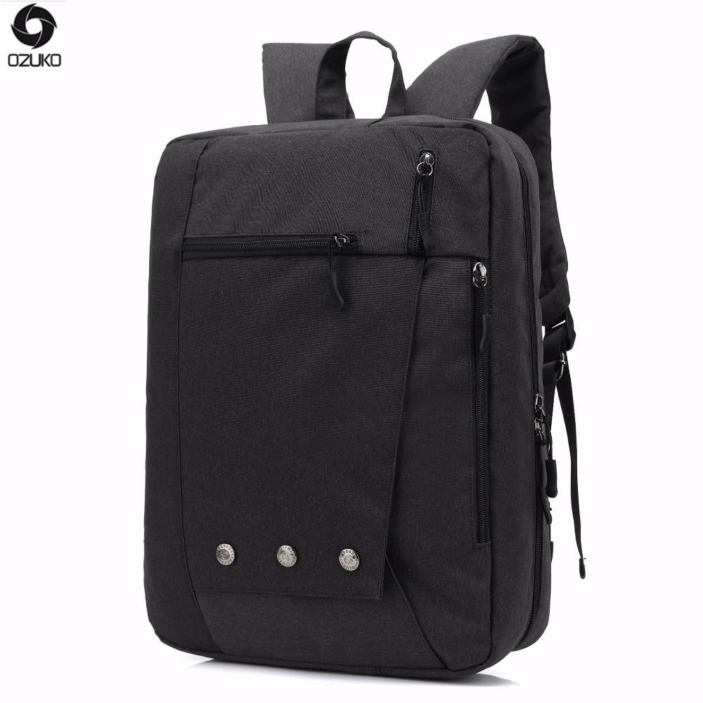 OZUKO Dual Use Hand bag Men Backpack High Quality Waterproof Women Laptop Backpacks School Bags For Teenagers Mochila MasculinaOZUKO Dual Use Hand bag Men Backpack High Quality Waterproof Women Laptop Backpacks School Bags For Teenagers Mochila Masculina