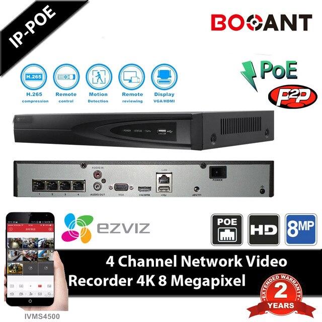 HIK DS-7604NI-E1/4P Original English Version NVR P2P 4CH 4POE VGA HDMI H264 Network Video Recorder Onvif CCTV camera HIK