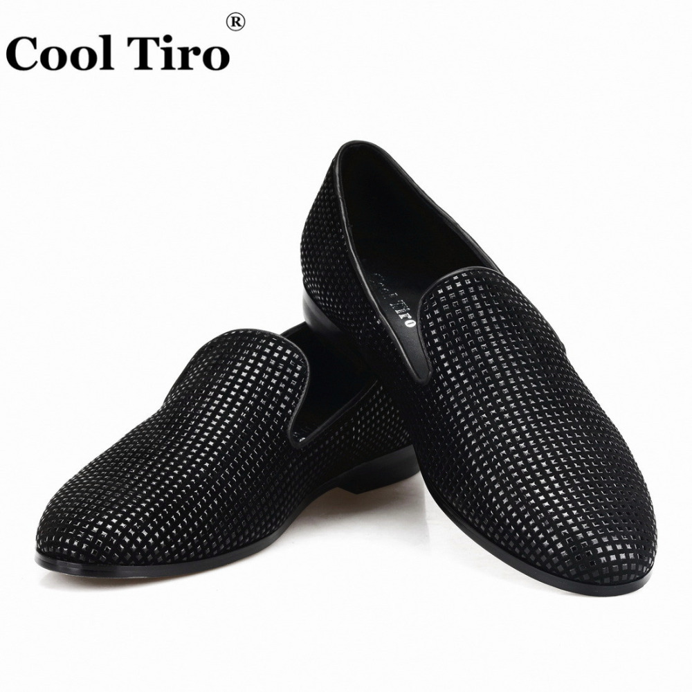 COOL TIRO Black Strass Suede Men Loafers Smoking Slippers Men s Moccasins  Flats Wedding Dress Shoes Casual e074abdf3d81