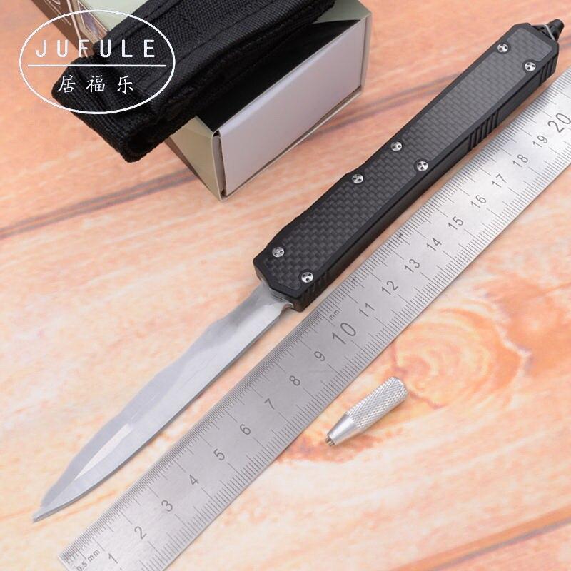 MK2 II D2 JUFULE OEM fibra de carbono lâmina de alumínio do punho camping survival ferramenta faca de cozinha faca de frutas ao ar livre EDC caça Tático