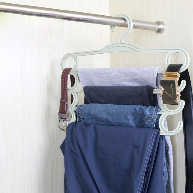 Multi Storey Anti Skid Trousers Storage Rack Multi Functional Wardrobe  Pants Organizer Hangers