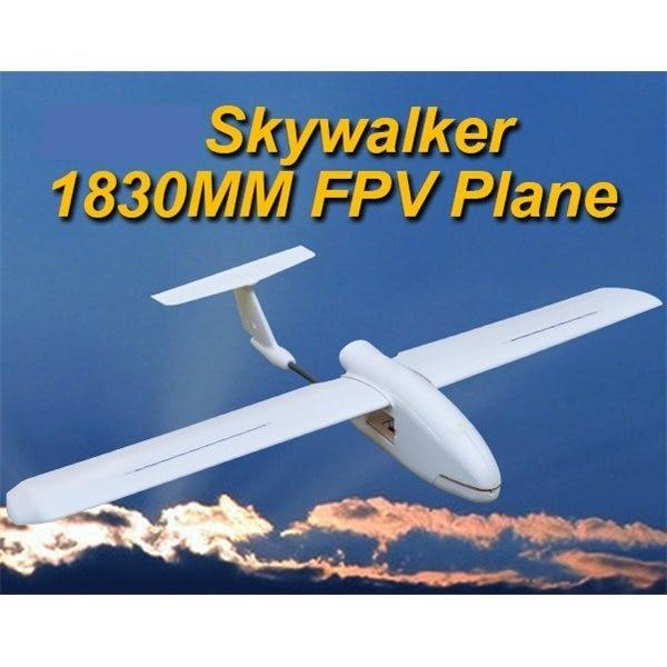 Versi Terkini 2019 2018 Skywalker 1830 1830mm FPV Plane UAV Kawalan Jauh Electric Glider Powered RC Model White EPO Airplanes