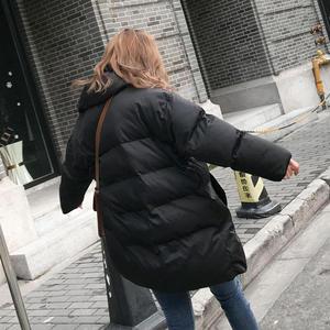 Image 5 - Veste dhiver pour femme, Parka épais, duvet rembourré en coton, vêtement dextérieur surdimensionné à manches longues, manteau femme, Q641