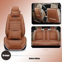 Universal รถยนต์ที่นั่งครอบคลุมผ้าลินินที่นั่งรถสำหรับ Nissan Qashqai หมายเหตุ Murano มีนาคม Almera อุปกรณ์เสริม Seat Cushion