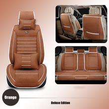 Universal Automobiles Seat Covers linen car seat covers for Nissan Qashqai Note Murano March Almera car accessories seat cushion
