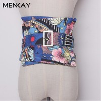 MENKAY Cummerbunds For Women Ma Am Collocation To Repair The Waist Fashionable Clothing Accessories