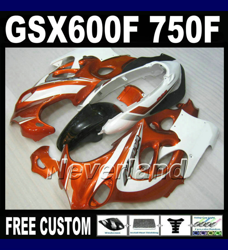 Motorcycle plastic fairing kit for Suzuki GSX 600F 750F 95 96 97-05 red white black fairings set GSX600F 1995 1996-2005 LM36 lowest price fairing kit for suzuki gsxr 600 750 k4 2004 2005 blue black fairings set gsxr600 gsxr750 04 05 eg12