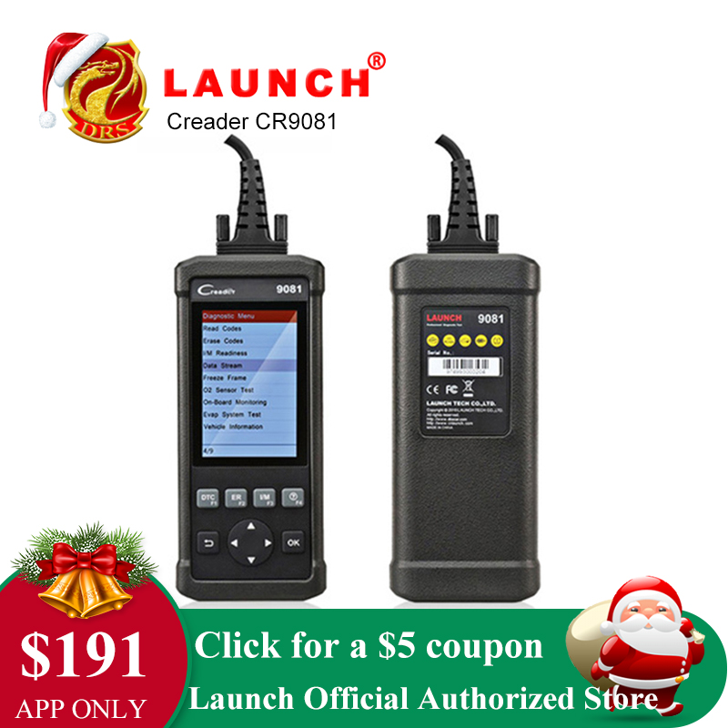 Lançamento CReader CR9081 OBD2 Completo Scanner De Diagnóstico Ferramenta DIY Auto Carro Leitor de Código de Emparelhamento do Scanner Automotivo Analisador de Emissões