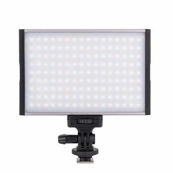 EACHSHOT ESL-144C Led Camera Light 144 LED Dimmable Video Light 1500LM LCD 15W Camcorder Video Lighting for Digital DSRL Camera
