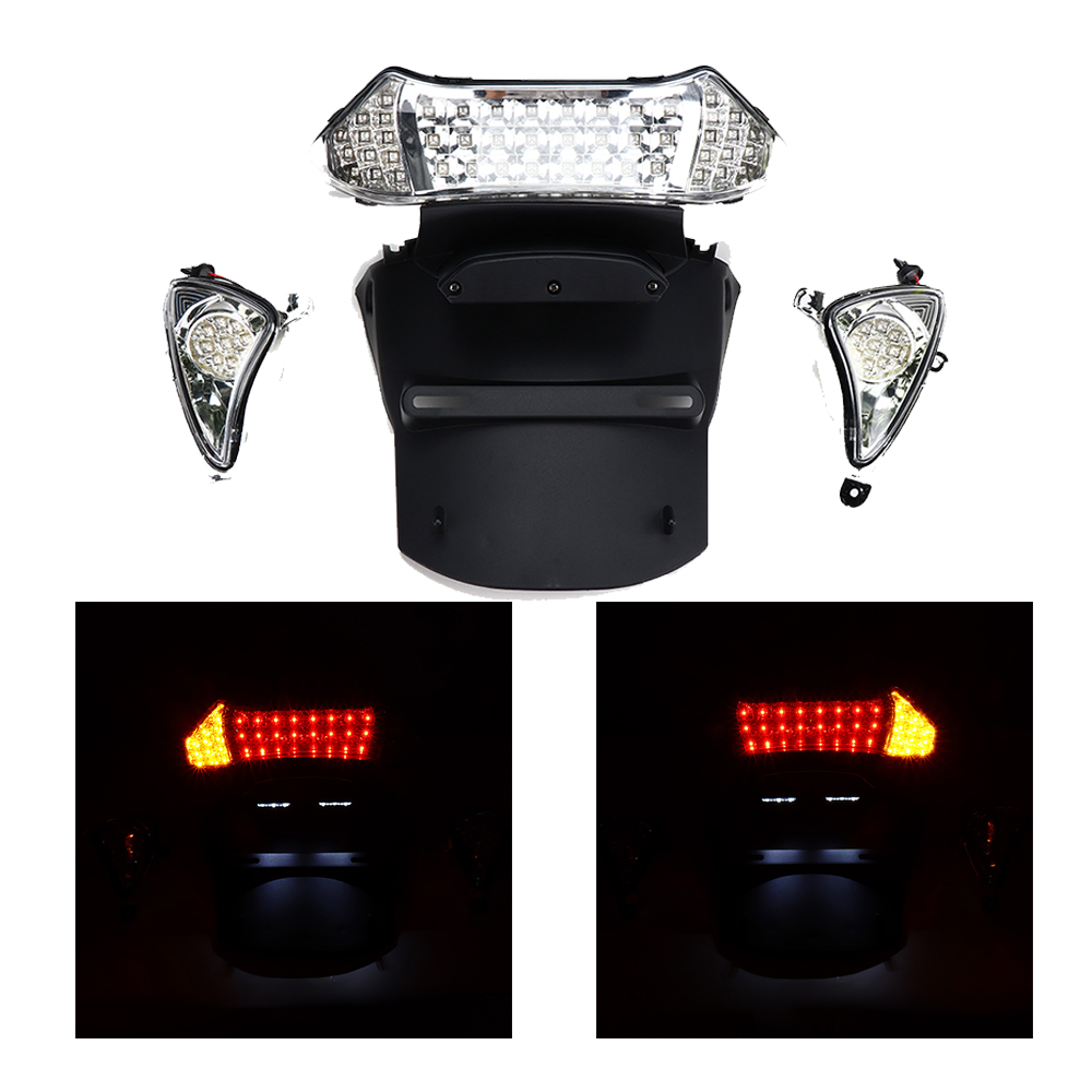 For YAMAHA T-max TMAX 500 Tmax500 T-MAX500 Motorcycle LED Lamp Rear Tail Light Brake Light Turn Signal Light 2004 2007