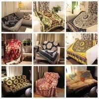 Sofa towel cotton woven line blanket tassel leisure blanket, tapestry, decorative blanket,Knitted thick bohemian Sofa blanket