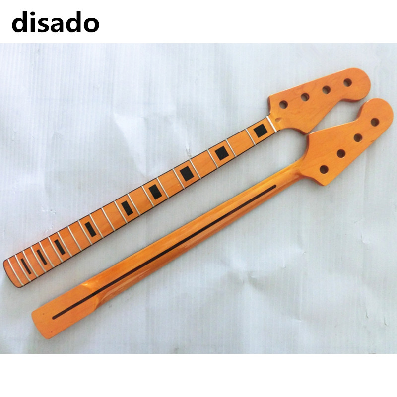 disado 20 21 Frets Maple Electric bass Guitar Neck maple Fingerboard Glossy Paint Guitar Accessories free shipping custom new 24 frets ash body maple fingerboard blackmachine b7 special shape 7 strings electric guitar 16 131