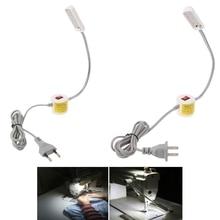 YAM EU/US Plug 12 Светодиодный 110-250 В Магнитная база швейная машина гусиная шея Рабочая высокое качество