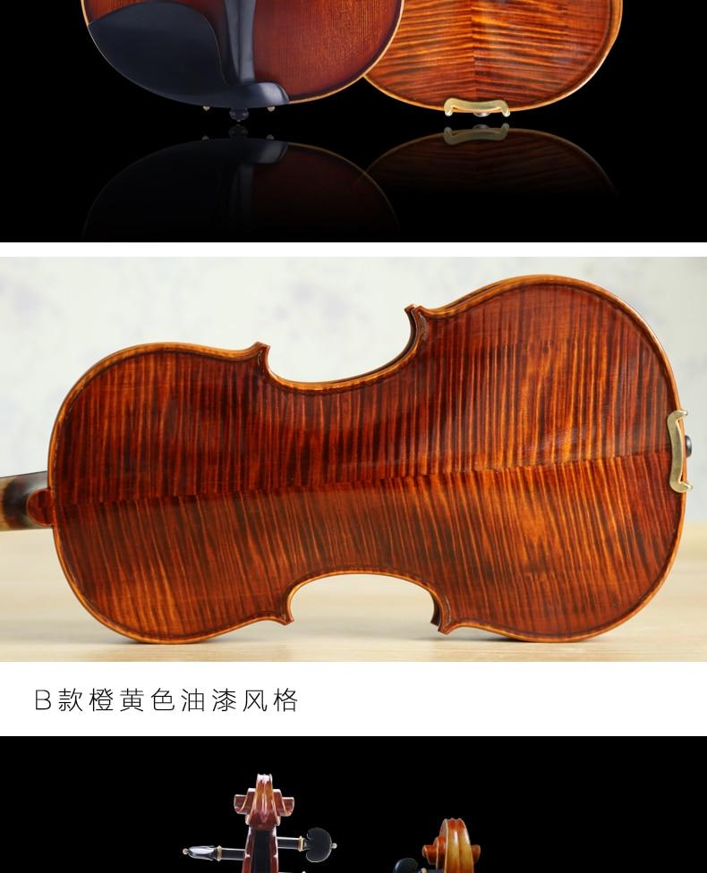 Скрипка ручной работы, высокое качество, профессиональный тест на производительность для детей, начинающих, 4/4, скрипка, чехол, канифоль, скрипка