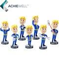 Hot Cabeças de Jogos Fallout Vault Boy de 4 Caracteres Bobbleheads Série PVC Action Figure Coleção Ventilador de Mesa Brinquedos Boneca Presente Do Miúdo