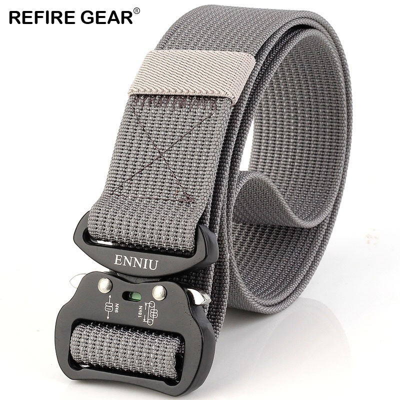Refire Gear Outdoor Sports Equipment Canvas Belts Men Metal Buckle Tactical Waist Belts Male Strap Adjustable Belts