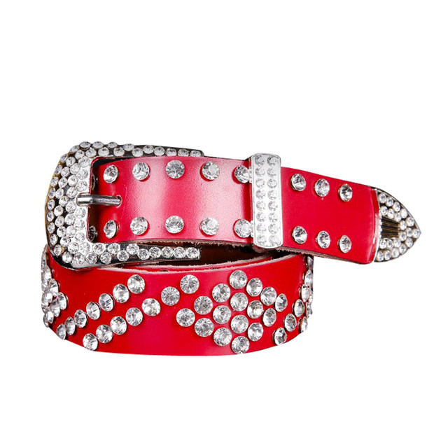 Wholesale Atlas western cowgirl bling cowgirl belt clear rhinestone crystak new  High quality Women Girls Belts 0e62b59bfebb