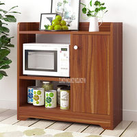 A1021 Simple Modern Side Cabinet Dining Room Sideboard Wooden Cupboard Microwave Oven Cabinet Kitchen Shelf Storage Cabinet