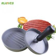 RLJLIVES 1 компл. круглый форма гамбургер пресс алюминиевый сплав 11 см гамбургер мясо говядины Гриль Burger пресс Пэтти чайник Плесень