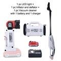 Keinso 12 в набор электроинструментов для надувания и дефлятора пылесос и Светодиодная лампа делятся с одной литиевой батареей и одним зарядны...