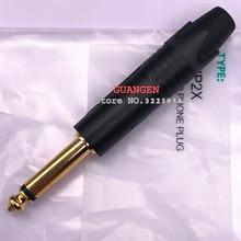 Gold plating10pcs für NEUTRIK NP2X/NP2X B STECKER Mono Professionelle 2 Pole 6,35mm 6,5mm Stereo Jack Stecker Neutrik 6,35mm jack Schwarz