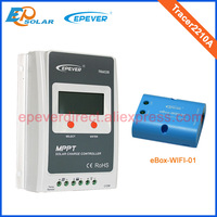 Tracer Mppt Solar Panel Regulators With EWIFI BOX 01 Wifi Connect Funcrion Tracer2210A 20A 20amp For