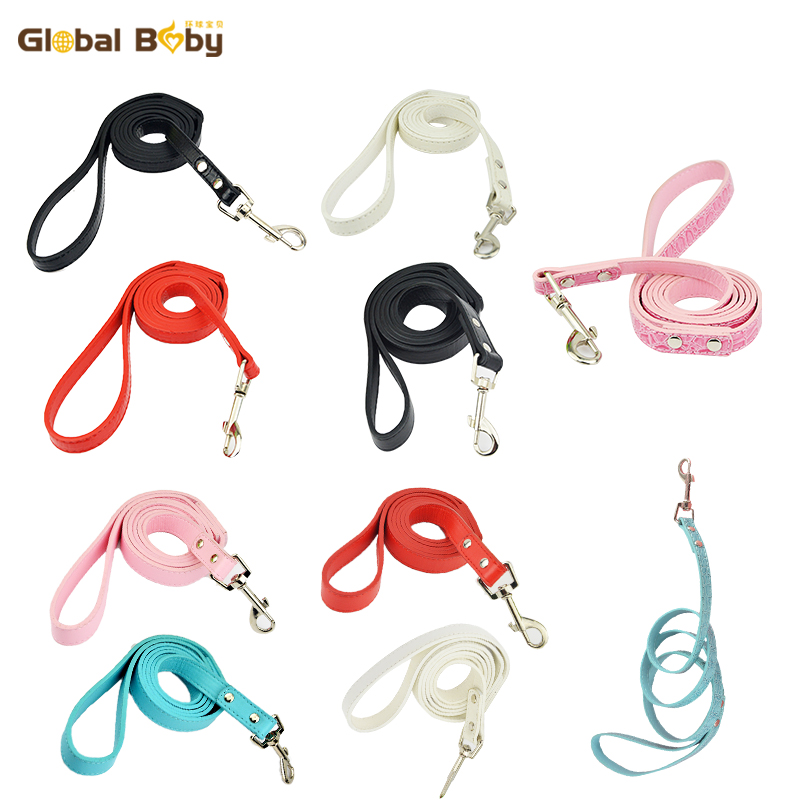100% High Quality Global Baby Brand Snake Leather Dogs Pets Strong Leads and Leash