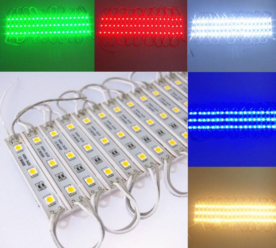 20 шт./лот 5050 Светодиодные модули, светодиодные модули SMD 3 светодиода знака светодиодной подсветкой для объемных букв белый теплый белый DC 12 ...