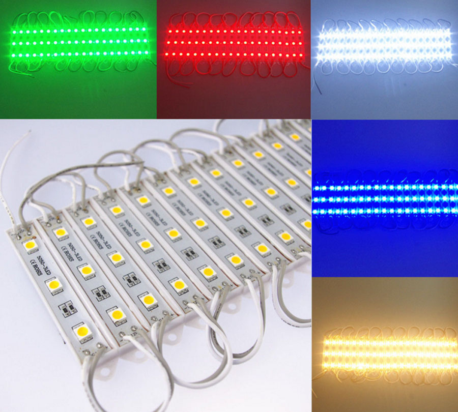 20 pcs/Lot 5050 LED Modules, Led Modules SMD 3 Leds Sign Led Backlights For Channel Letters White Warm White DC 12V good group diy kit led display include p8 smd3in1 30pcs led modules 1 pcs rgb led controller 4 pcs led power supply