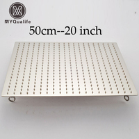 20 inch Square Stainless Steel Rain Shower Heads Ceiling Mounted Bathroom Rainfall Head Shower W 4 Fixed Ring