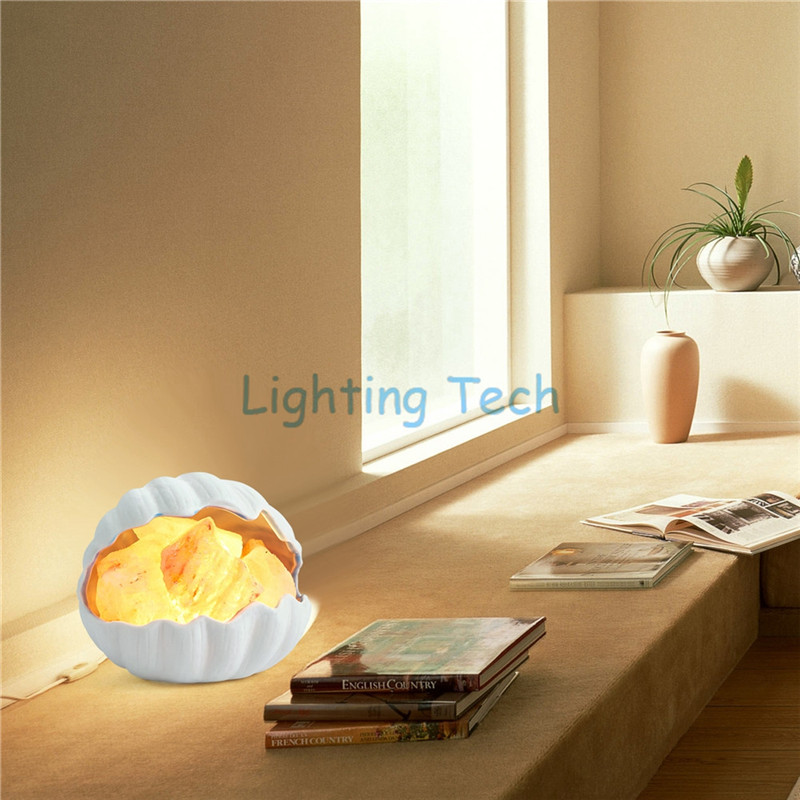 Himalayan sea Shell Salt lamp Dimmable for bedroom the air purification improvement of sleep relieve stress Muschel Salzlampe assessment of salt build up in irrigated soils of sokoto nigeria