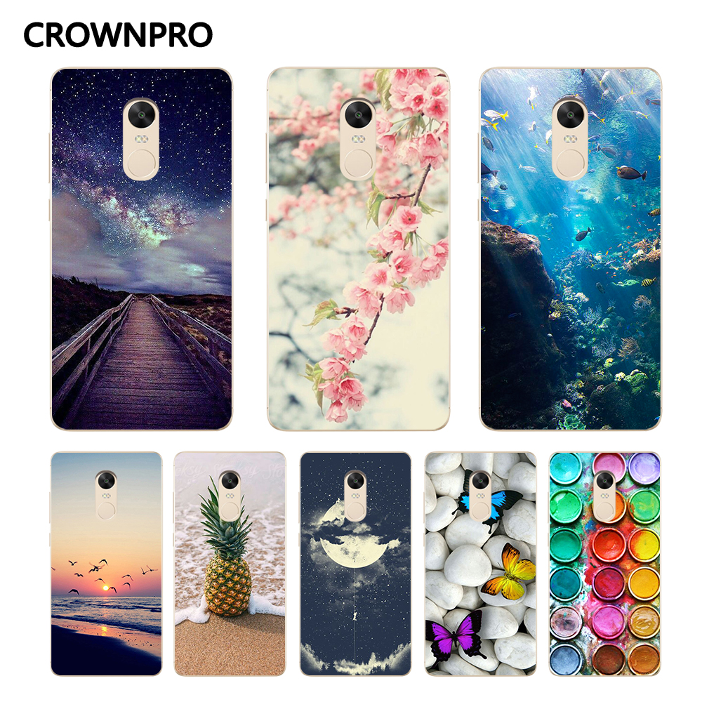 Hot Sale Crownpro Phone Case For Xiaomi Redmi Note 4 Global Version 3g 32g Soft Silicone Tpu Cover 4x Protective Back